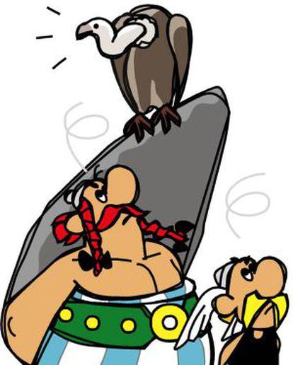 Obelix e Asterix, revistos pelo ilustrador Marcos Balfagón.