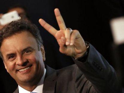Aécio Neves antes do debate do dia 19 de outubro.
