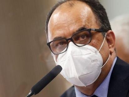 O reverendo Amilton Gomes de Paula durante a CPI da Pandemia, nesta terça-feira.