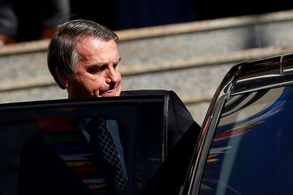 O presidente Jair Bolsonaro nesta sexta-feira, em Brasília.