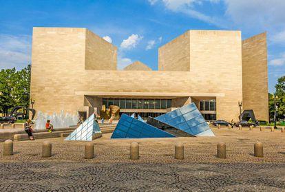 A ala leste da Galeria Nacional de Arte de Washington, projetada por I.M. Pei e inaugurada em 1978