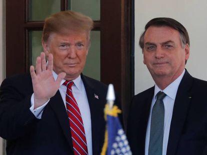 Trump e Bolsonaro, en uma imagen de arquivo.