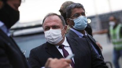 O ministro Eduardo Pazuello, no dia 22, em São Paulo.