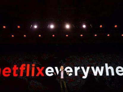 O cofundador de Netflix, Reed Hastings, nas Vegas.
