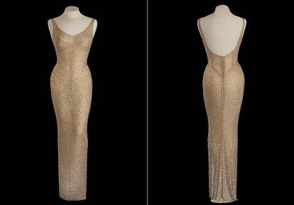 O icônico vestido que Marilyn Monroe usava quando cantou no aniversário de Kennedy, em 1962.