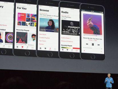 Eddy Cue, vice-presidente da Apple, apresentou as novidades do iOS 10.