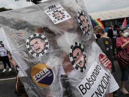 Protestos contra a gestão de Jair Bolsonaro, em junho de 2021.