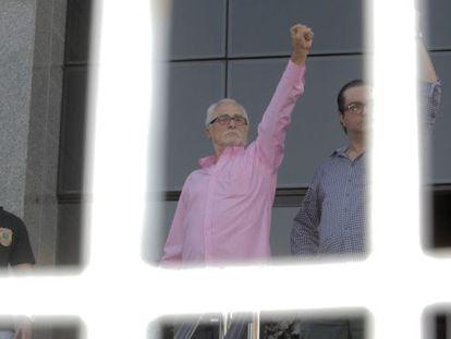 José Genoino no dia da sua detenção.