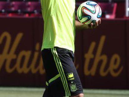 Diego Costa durante um treinamento