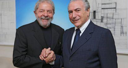 Lula e Temer em abril de 2015.