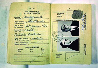 Passaporte falso de Che Guevara com a identidade de Adolfo Mena.