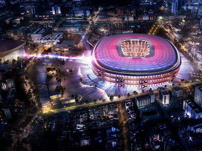 Imagem virtual do Nou Camp Nou.