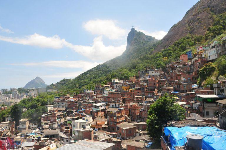 Vista da favela de Santa Marta, no Rio: apesar do imaginário, Rio e São Paulo não entraram no ranking da violência da ONG mexicana.