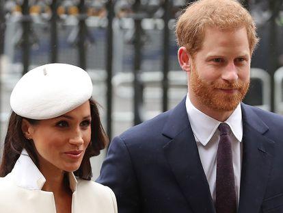 Meghan Markle e o príncipe Harry, em Londres, numa imagem de arquivo.