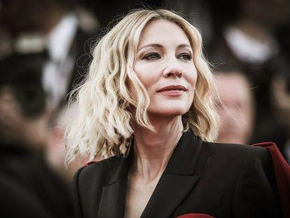 Cate Blanchett na cerimônia de encerramento do Festival de Cannes de 2018.