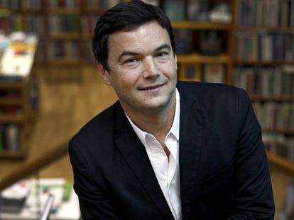 Thomas Piketty, em uma livraria de Madri em 2016.