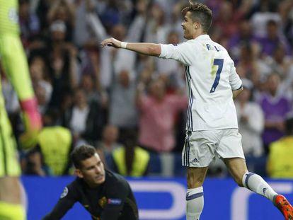 Cristiano Ronaldo deixou sua marca três vezes.