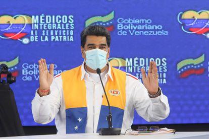 O presidente venezuelano, Nicolás Maduro, fala em um ato do Governo em Caracas no último dia 15 de outubro.