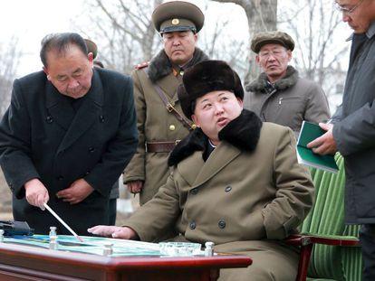 O líder da Coreia do Norte, Kim Jong-un, em uma imagem divulgada pela agência KCNA.