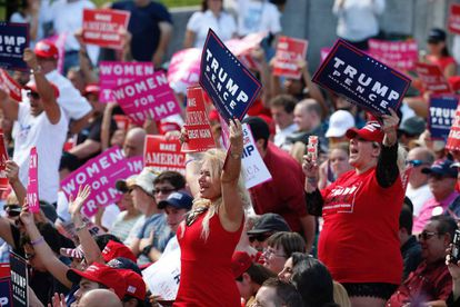 Seguidores de Trump em um ato nesta quarta-feira, em Miami (Flórida).