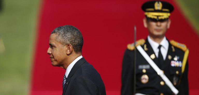 Obama, em sua vista à Coreia do Sul nesta sexta-feira.
