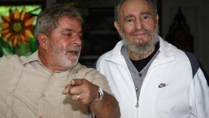 Lula e Fidel em Havana, em foto do Facebook do brasileiro.
