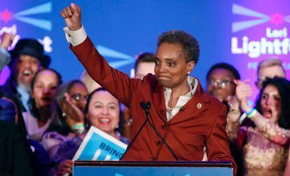 Lori Lightfoot, depois de divulgados os resultados eleitorais.