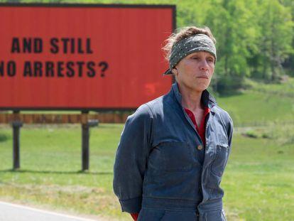 Frances McDormand, em 'Três anúncios para um crime'.