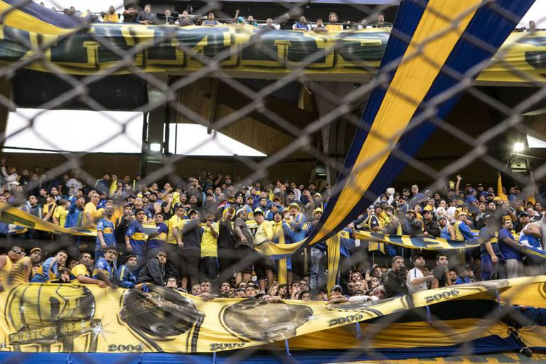 A torcida do Boca Juniors no último clássico.