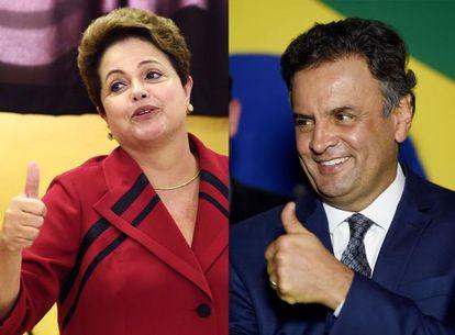 Dilma e Aécio.