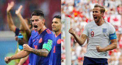 James é dúvida na Colômbia para o confronto contra Kane, artilheiro da Copa.