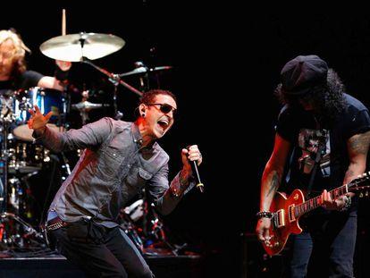 Chester Bennington, vocalista do Linkin Park.