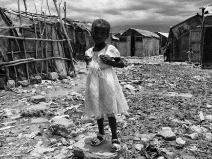 Criança na favela de Cité Soleil em Porto Príncipe. Agosto de 2013.