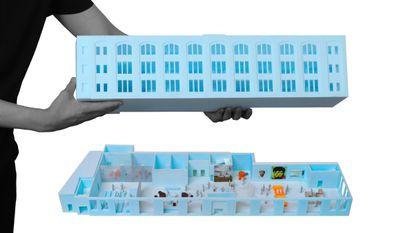 Maquete do projeto do estúdio OMA para o Centro Pompidou x Jersey City, que será conduzido pelo arquiteto Jason Long. / OMA