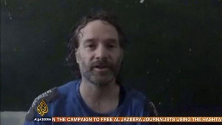 Imagem do vídeo difundido pelos sequestradores de Curtis.