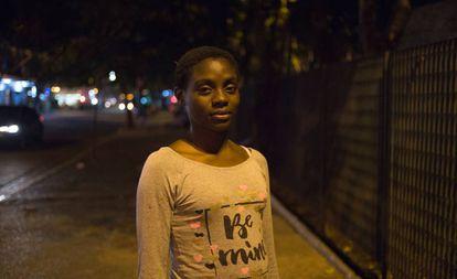 Ellen Cristina dos Santos, no centro de São Paulo.