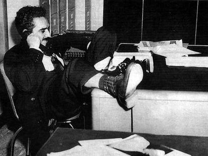 García Márquez quando era repórter, nos anos cinquenta.