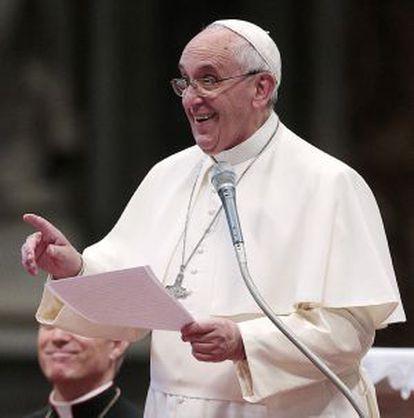 O papa Francisco, durante uma audiência no Vaticano.