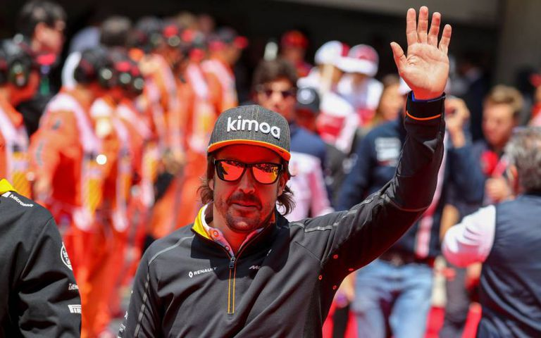 Fernando Alonso, durante o GP da China, em abril.