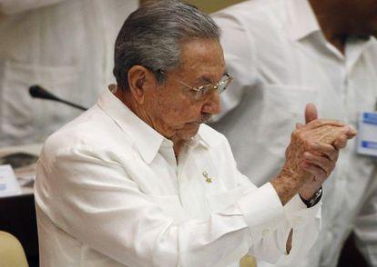 Raúl Castro neste sábado na Assembleia Nacional cubana.