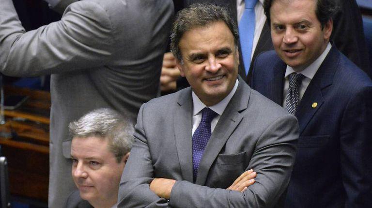 Aécio, em agosto de 2016, no Senado.