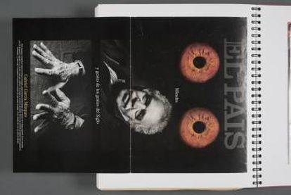 Capa do EL PAÍS SEMANAL que García Márquez guardava em um de seus cadernos pessoais.
