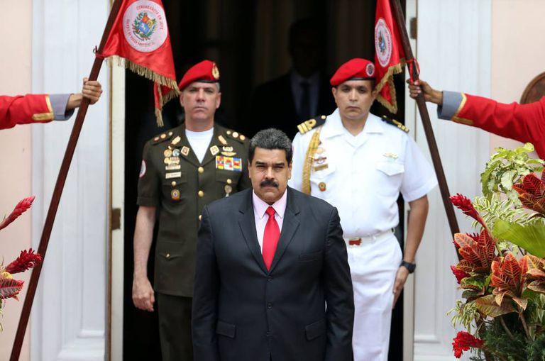 Maduro na reunião da ALBA neste domingo, em Caracas.