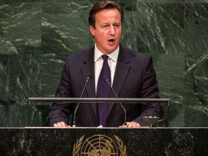 David Cameron discursa na Assembleia Geral da ONU.