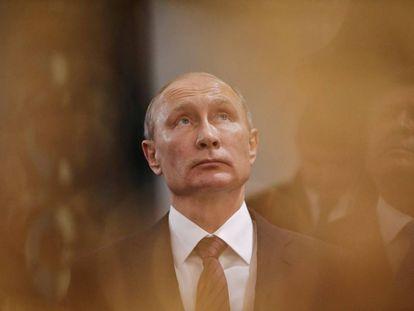 O presidente russo Vladimir Putin, durante uma visita recente a Istra