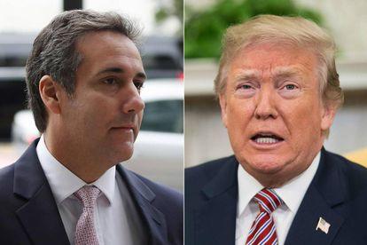 Michael Cohen e Donald Trump.