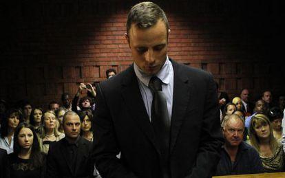 Pistorius durante julgamento pelo assassinato de sua mulher.