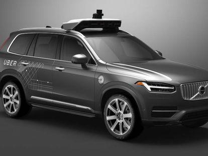 Volvo XC90 para o projeto com Uber.