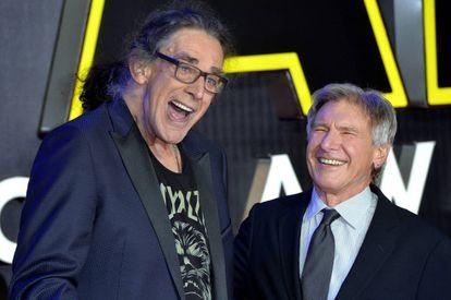 Peter Mayhew e Harrison Ford em 2016.