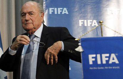 Blatter, na sede da FIFA.